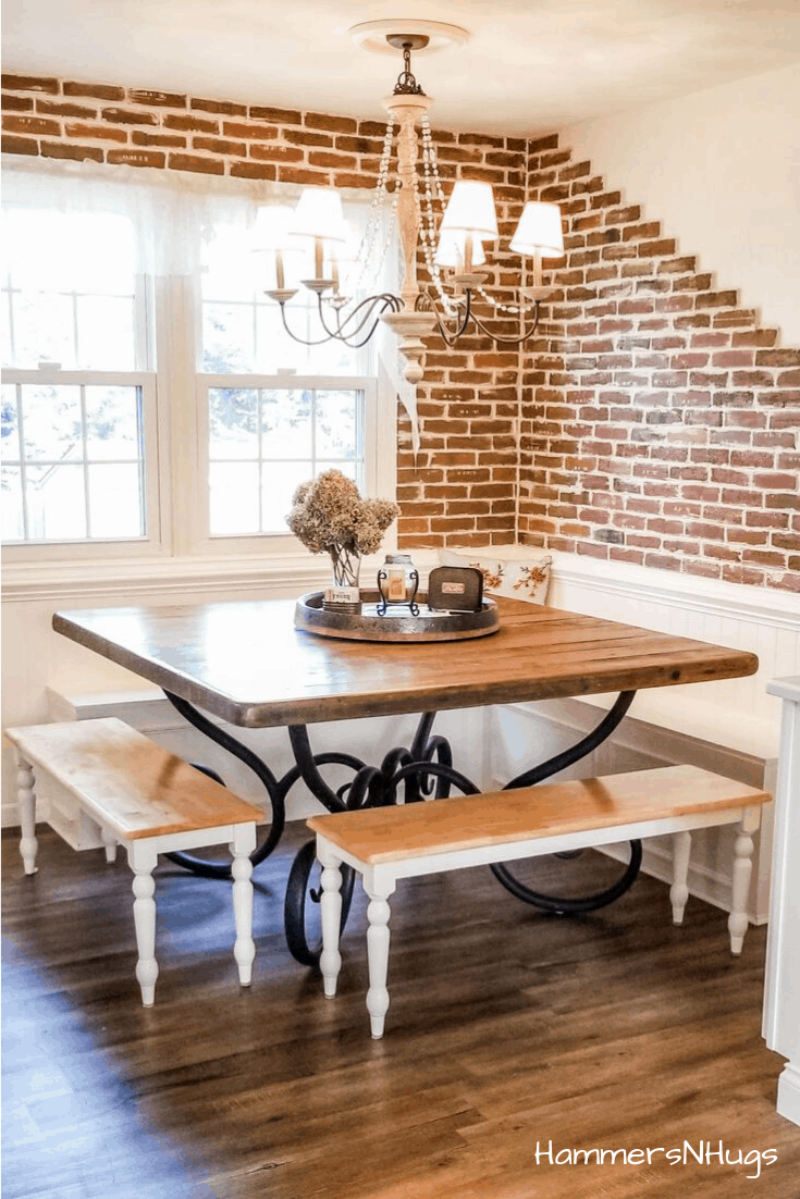 French Country Farmhouse Breakfast Nook Reveal