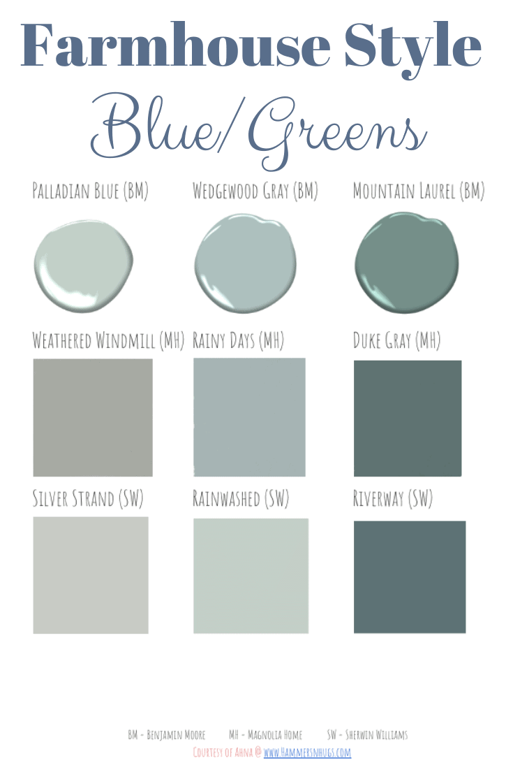 Most Popular Farmhouse Style Paint Guide