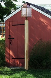 Wooden Lamp Posts Residential