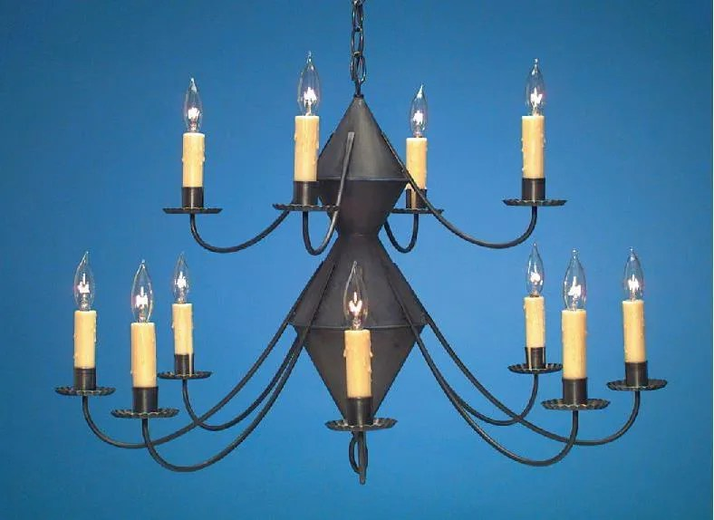 reproduction colonial tin chandeliers