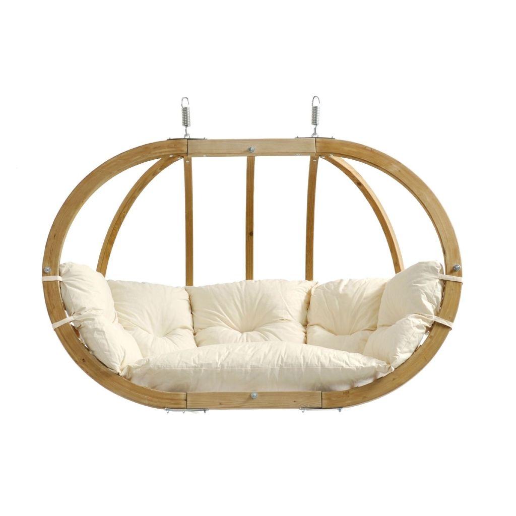 Globo Royal Chair Natura Double Hanging Seat Wood