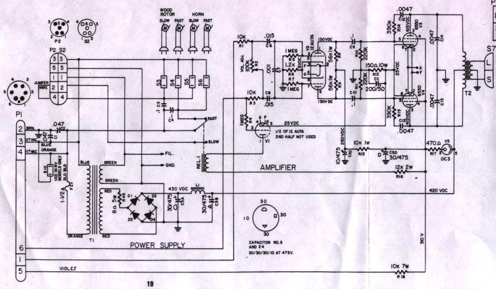 Amp Wiring Diagrams Dean M S Schematics Hammond Leslie Info