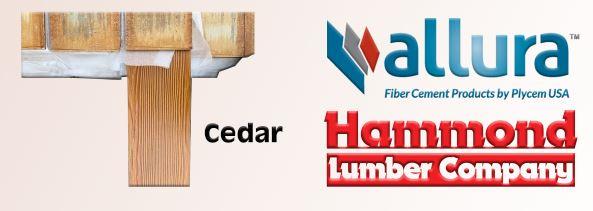 Allura Fiber Cement Siding Cedar Lap Style  Color Cedar
