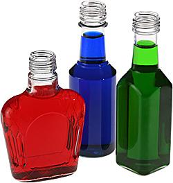 Injection Blow Molded PET liqueur miniatures