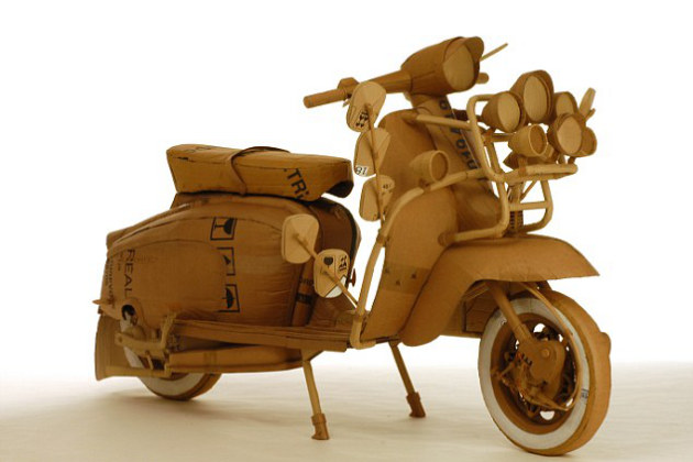 35 Kerajinan Dari Kardus Motor Vespa Untuk Mempercantik Hunian