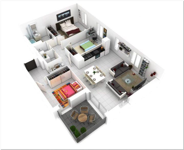 Desain Rumah Minimalis Dapur Di Depan  100 contoh denah rumah minimalis terisimpel dan terkeren