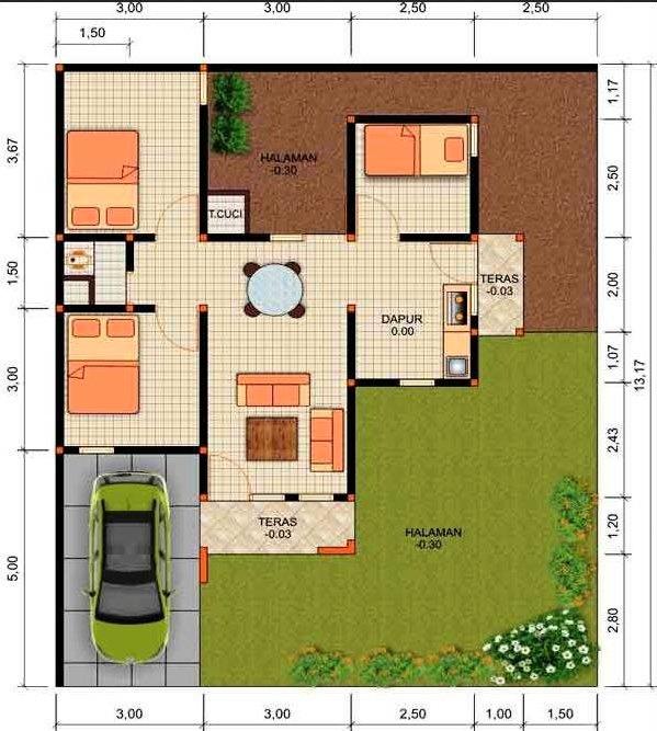 35+ Ide Istimewa Gambar Rumah Minimalis 3 Kamar Tidur Type 36