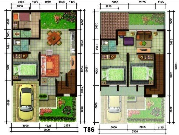 Denah Rumah Minimalis 3 Kamar Tidur Tanpa Garasi 100 contoh denah rumah minimalis terisimpel dan terkeren