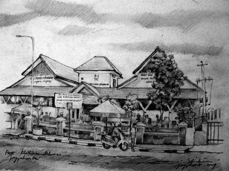 sketsa rumah impian
