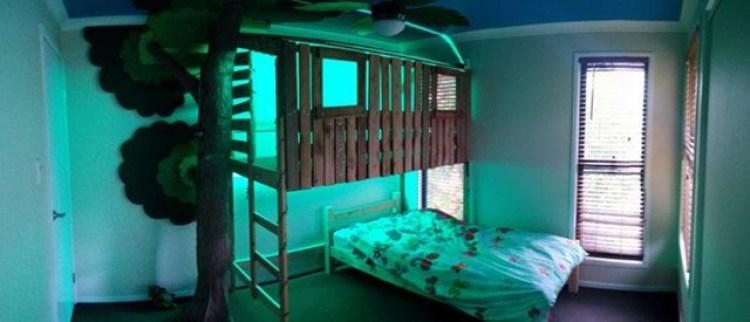 desain kamar tidur rumah kayu