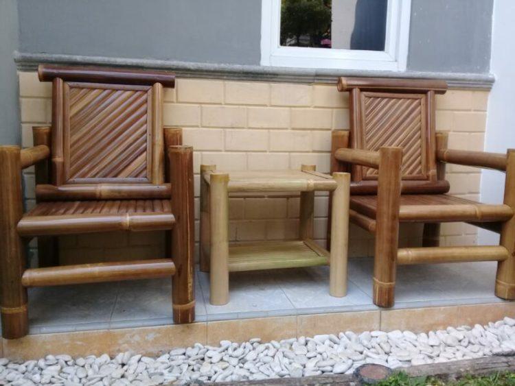 kerajianan dari bambu, kursi dari bambu