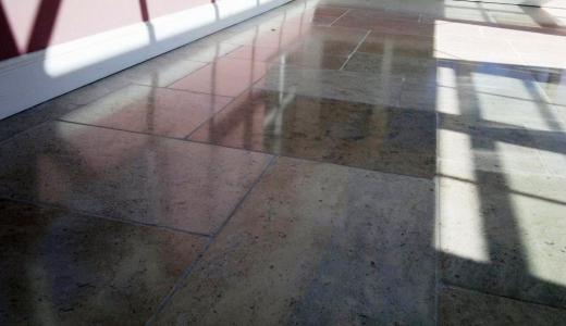 Polished Granite Floor After Cleaning and Polishing Fareham