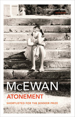 The image shows the book cover of Atonement by Ian McEwan