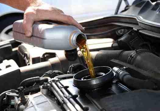 Oil top up at Hampton Motors as part of an interim car service