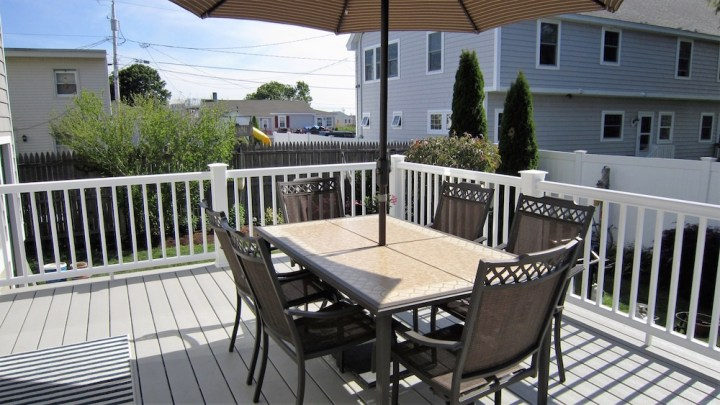 North Beach rental back deck