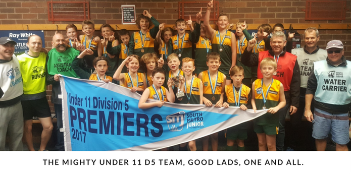 Footy Manager's Report – Grand Final Week Under 11-12s