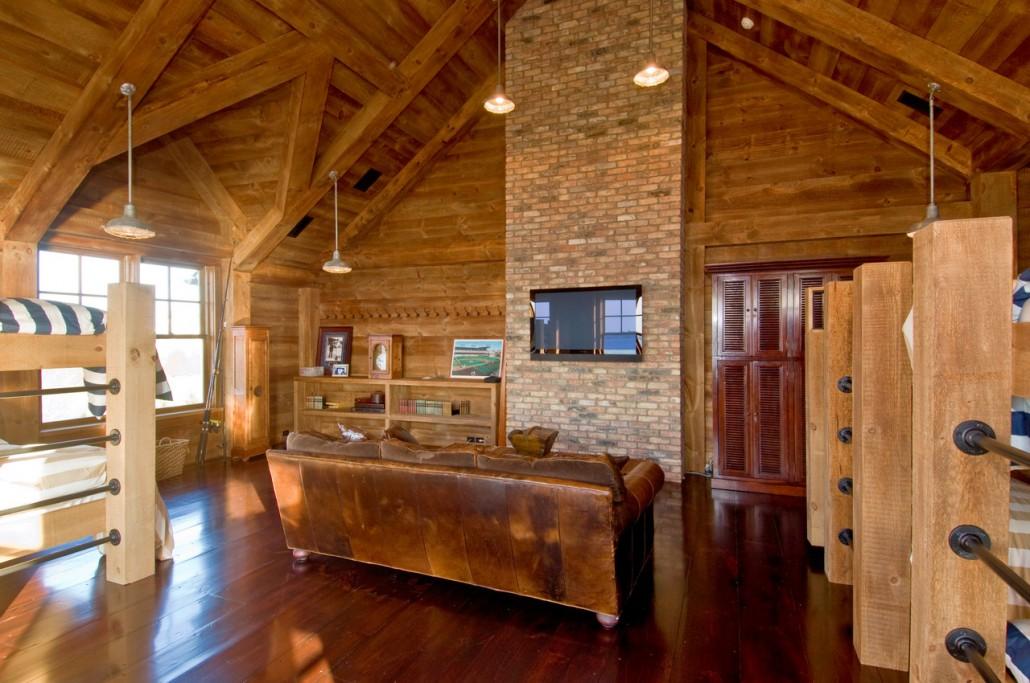 Industrial Rustic Bunk Room  Hamptons Habitat