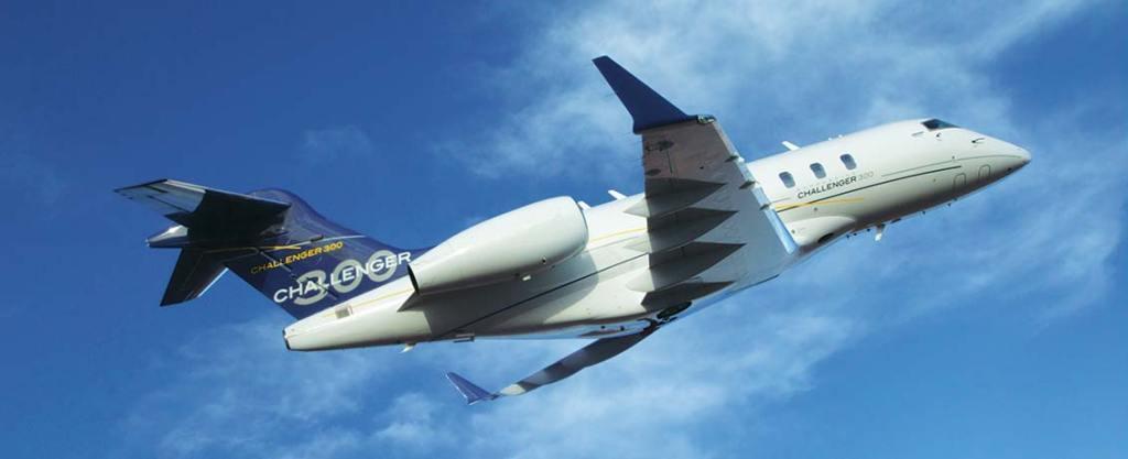 Challenger 300 Air Charter Flying Upwards