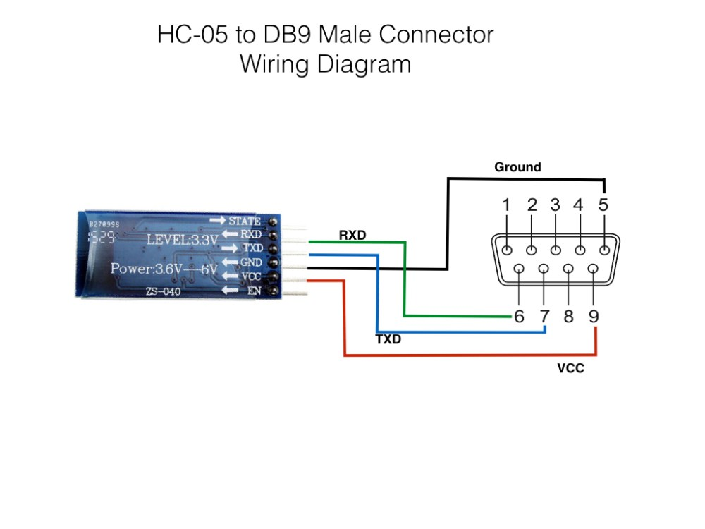 medium resolution of hc 05 to db9 connector