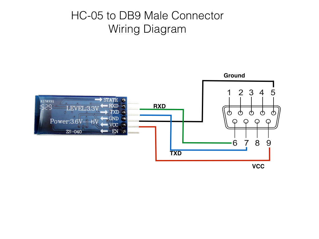 hight resolution of hc 05 to db9 connector