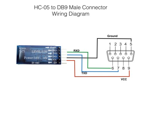 small resolution of hc 05 to db9 connector