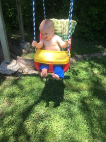 he loves the swing!