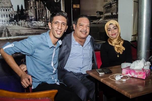 أحمد والدتكور فتحى الحصرى والصحفية أمنية محمود