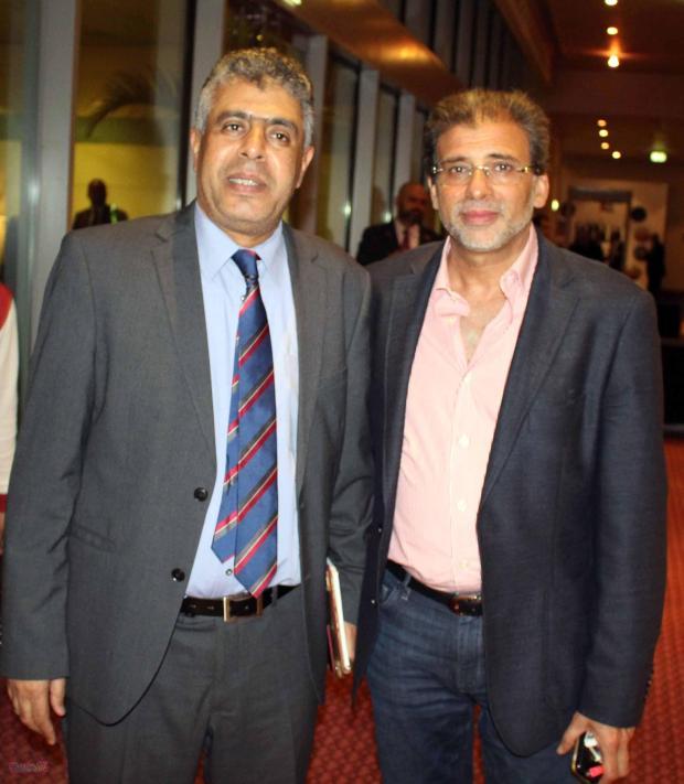 المخرج خالد يوسف والكاتب عماد الدين حسين