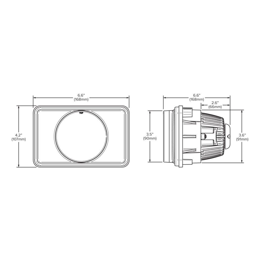 4 X 6 High Beam Led Headlight Module