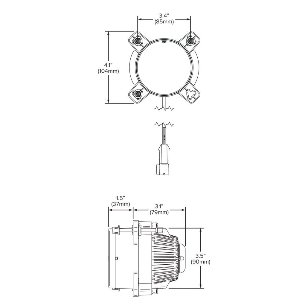 90mm High Beam Led Compact Headlight Module