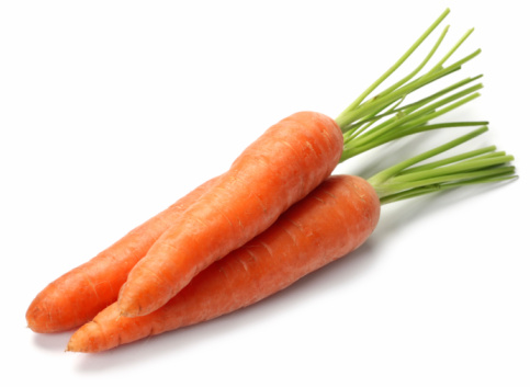 Carrot fresh vegetable group on white background