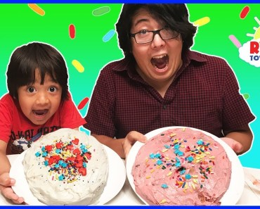 Cake Challenge Parent vs Kid Family Fun Activities with Ryan ToysReview - cake challenge parent vs kid family fun activities with ryan toysreview