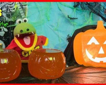 HALLOWEEN DIY GIANT GUMMY PUMPKIN ! How to make Jello gummies for kids - halloween diy giant gummy pumpkin how to make jello gummies for kids