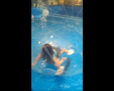 Little Girl takes Inflatable Hamster Ball for a Spin | Funny Kids - little girl takes inflatable hamster ball for a spin funny kids