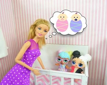 Barbie Tells LOL Surprise Dolls A BIG Secret! LOL Dolls Twins! - Barbie Videos - barbie tells lol surprise dolls a big secret lol dolls twins barbie videos