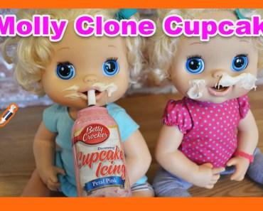 FUNNY! Baby Alive Valentine's Cupcakes! Clone Mollys Make Cupcakes! - funny baby alive valentines cupcakes clone mollys make cupcakes