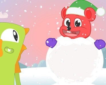 Gummy Monsters make giant snowman | Christmas funny contest | Cartoon clips for kids - gummy monsters make giant snowman christmas funny contest cartoon clips for kids
