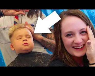 HILARIOUS TODDLER HAIRCUT! - hilarious toddler haircut