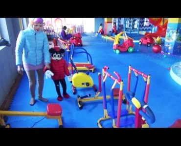Indoor Playground Family Fun Play Area and funny activites with Mickey Mouse play ball pit, car kids - indoor playground family fun play area and funny activites with mickey mouse play ball pit car kids