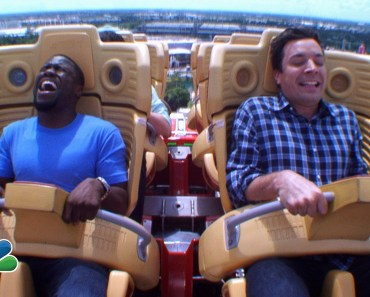 Jimmy and Kevin Hart Ride a Roller Coaster - jimmy and kevin hart ride a roller coaster