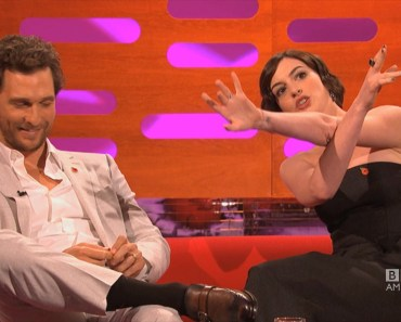 Anne Hathaway is a huge Matthew McConaughey Magic Mike Fan - The Graham Norton Show on BBC America - anne hathaway is a huge matthew mcconaughey magic mike fan the graham norton show on bbc america