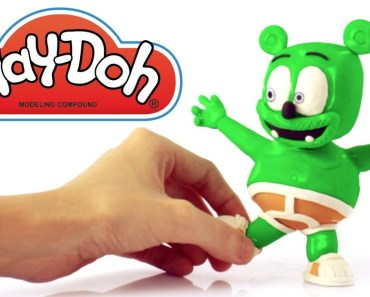 Funny Gummy Bear Play Doh Stop motion video for kids - funny gummy bear play doh stop motion video for kids