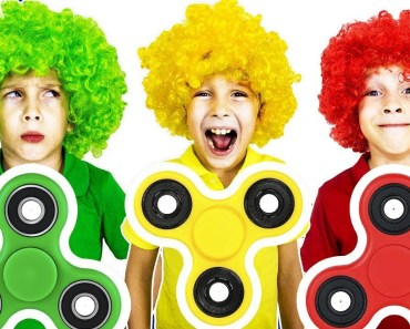 Magic fidget spinners learn colors with wigs Funny kids pretend play - magic fidget spinners learn colors with wigs funny kids pretend play