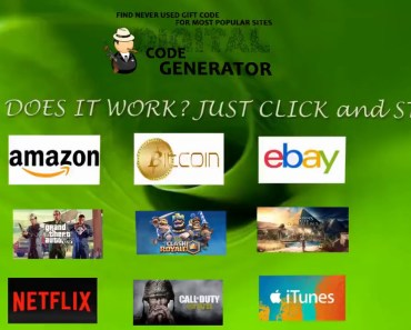 Generate Codes for your favorite sites ! - generate codes for your favorite sites