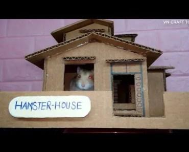 Handmade: How to make a DORAEMON HAMSTER's house - cardboard - handmade how to make a doraemon hamsters house cardboard