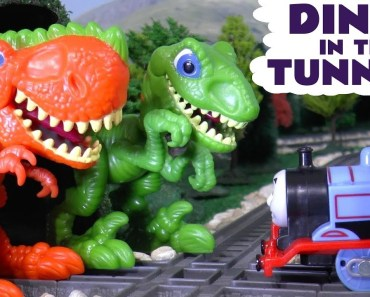 Thomas The Tank Engine funny Dinosaurs In The Tunnel - Hide and Seek Play for kids TT4U - thomas the tank engine funny dinosaurs in the tunnel hide and seek play for kids tt4u