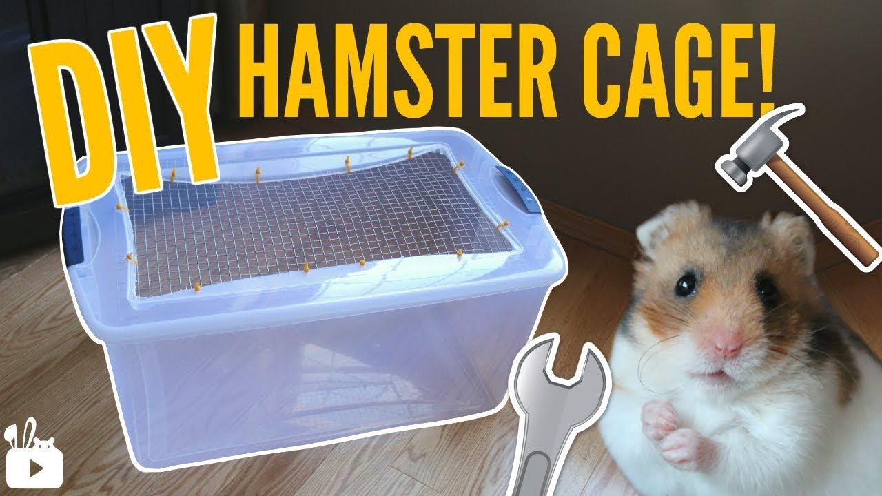 how to make a bin cage diy hamster cage hamster care sheet