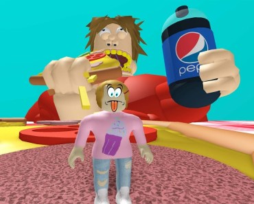 Roblox Escape The Giant Fat Guy With Molly! - roblox escape the giant fat guy with molly