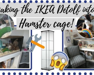 TURNING THE IKEA DETOLF INTO A HAMSTER CAGE - turning the ikea detolf into a hamster cage
