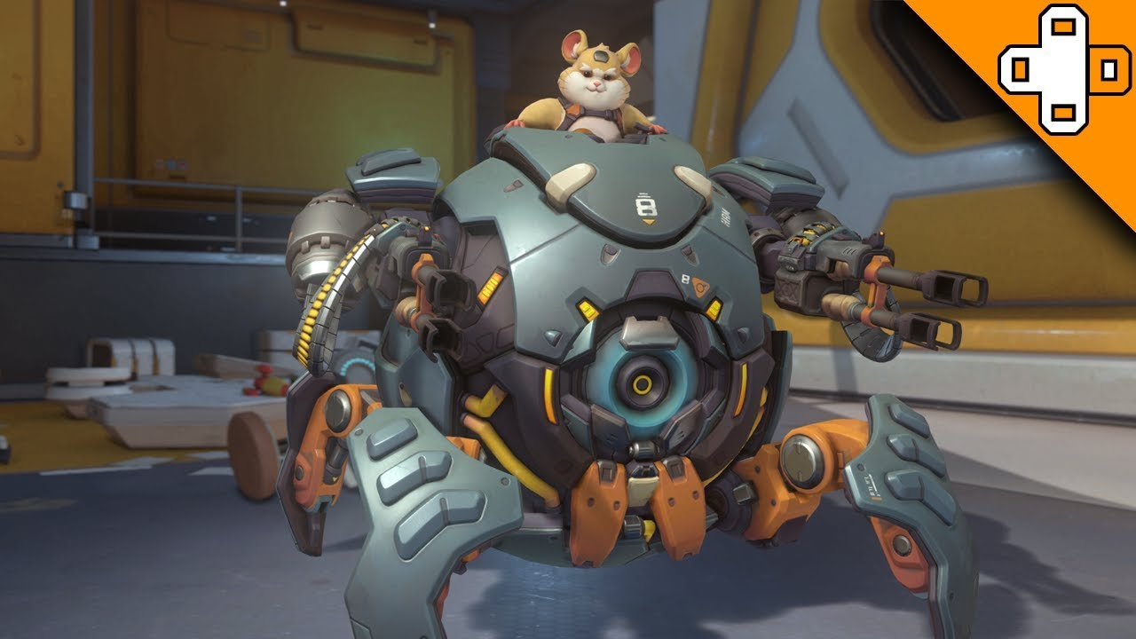 HAMMOND GAMEPLAY AND ALL ABILITIES New Hero Wrecking Ball In Overwatch Hamster Care Sheet